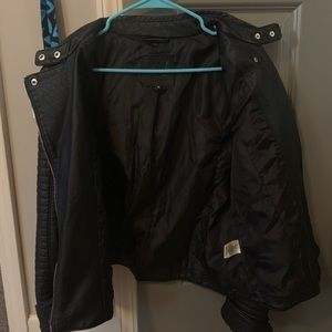 Black Max Studio Viscose Leather Jacket